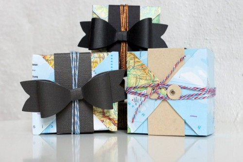 gift boxes from old maps