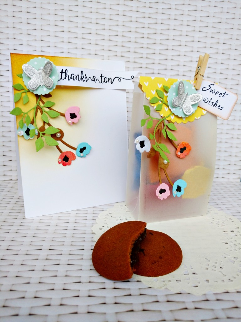 party favour bag with card by Jasleen Kaur for Sizzix