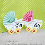 Shaped Cards With Scalloped Circles