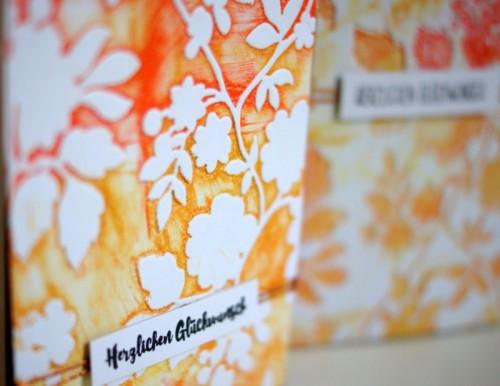 sizzix textured impressions card