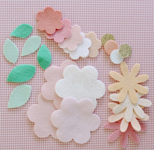 Felt Flower Hair Accessories from Molly and Mama - 1