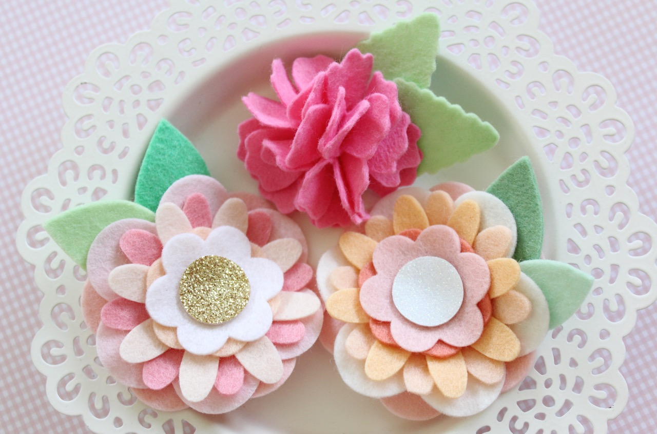 Felt Flower Hair Accessories from Molly and Mama - 16
