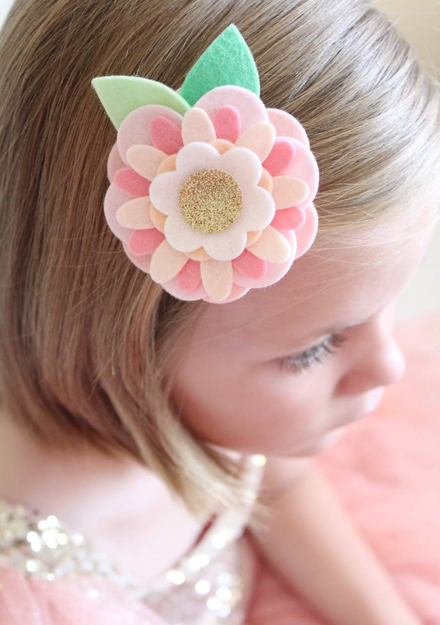Felt Flower Hair Accessories from Molly and Mama - 17