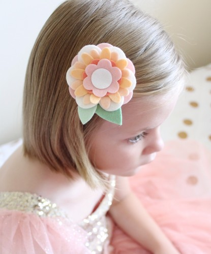 Felt Flower Hair Accessories from Molly and Mama - 18