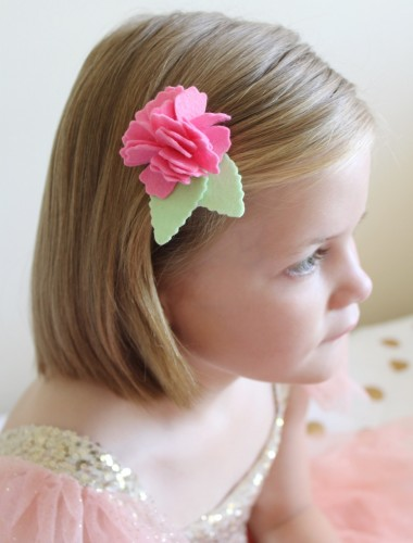Felt Flower Hair Accessories from Molly and Mama - 19