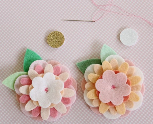 Felt Flower Hair Accessories from Molly and Mama - 3