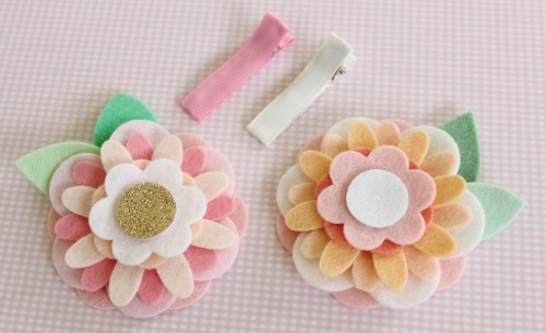 Felt Flower Hair Accessories from Molly and Mama - 6