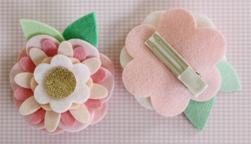 Felt Flower Hair Accessories from Molly and Mama - 7