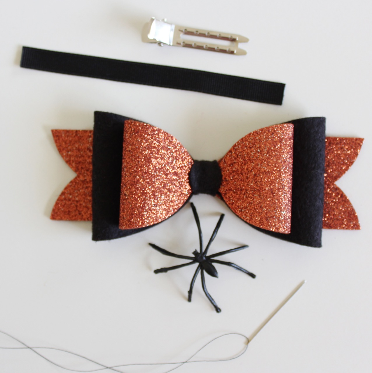 Halloween Hair Bow by Molly and Mama