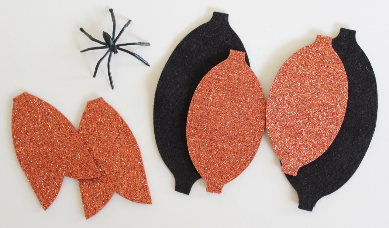Halloween Hair Bow materials from Molly and Mama