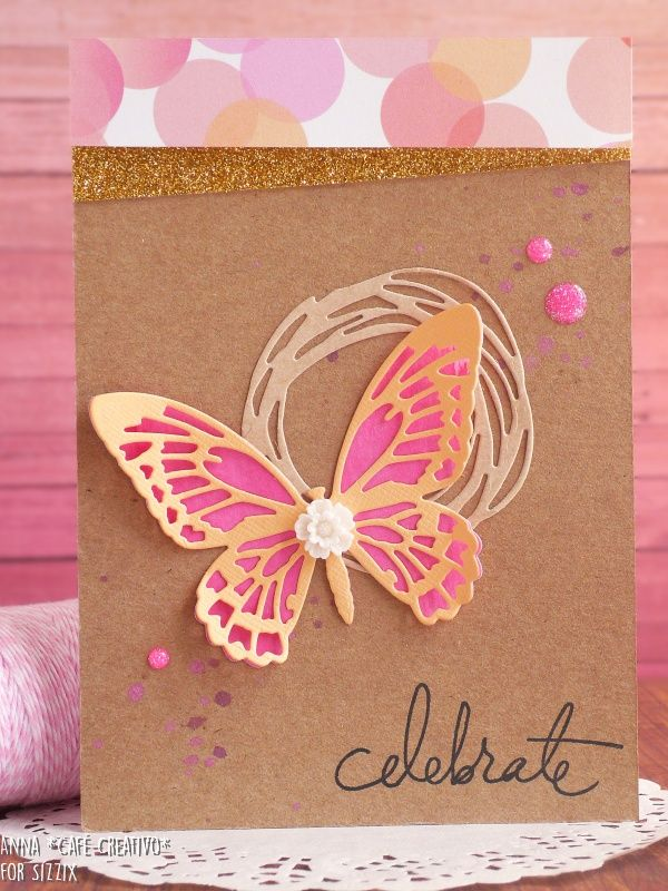 Birthday Butterfly Card using Sizzix Dies by Tim Holtz
