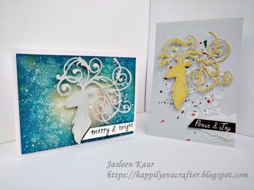elegant-deer-christmas-cards-sizzix-jasleen-kaur