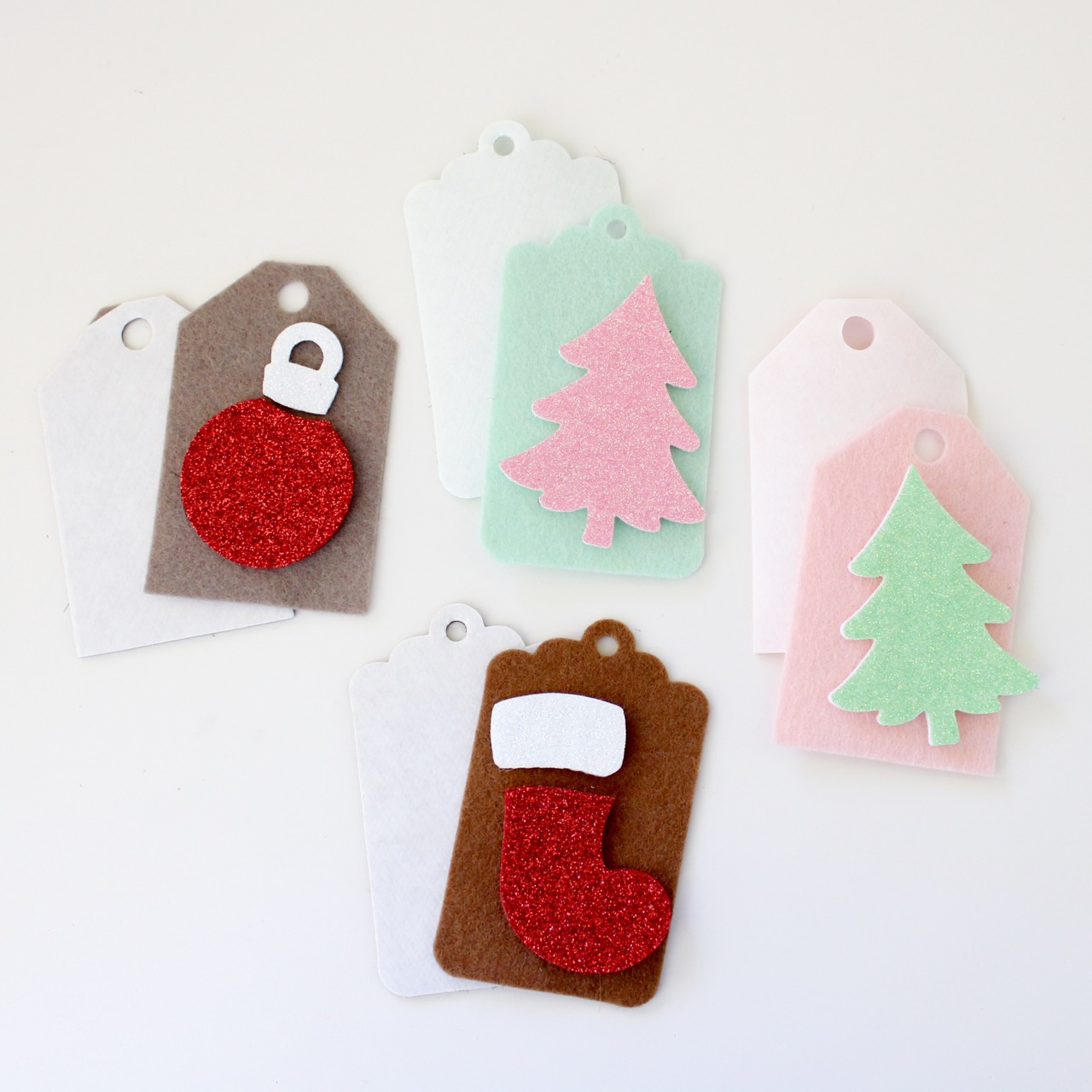 Christmas felt tags by Molly and Mama - 1