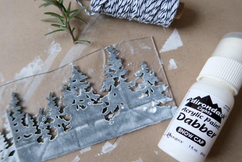 DIY foam stamp with Tim Holtz thinlits die