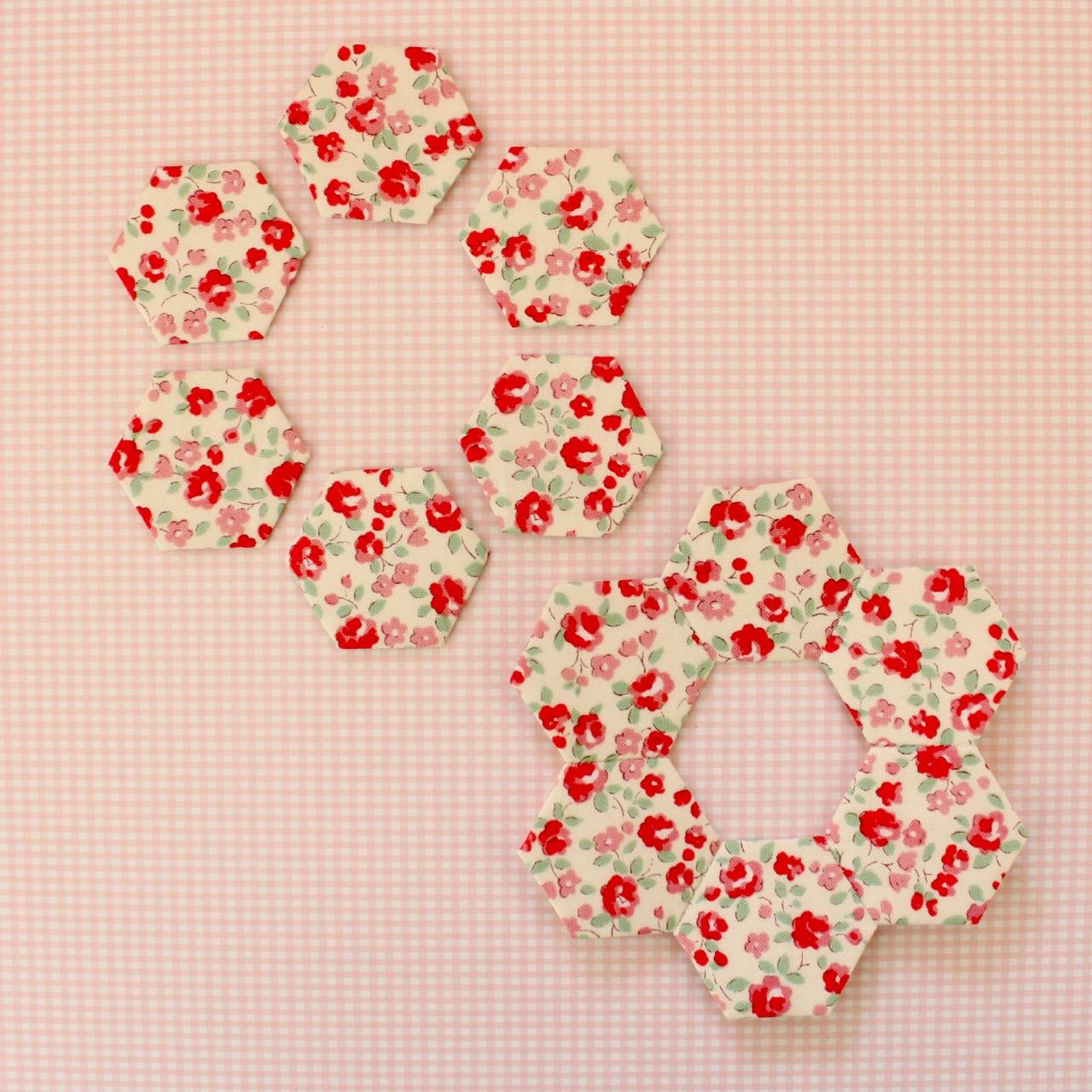 Make twelve hexagons