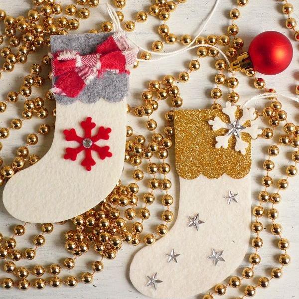 Felt Christmas Stocking Ornaments Anna Draicchio Daily