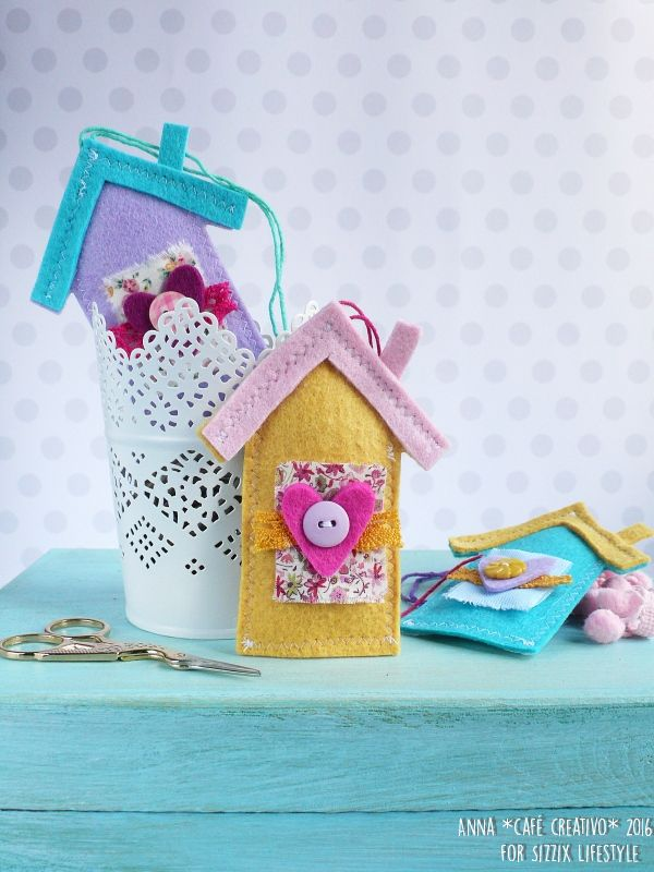How to make a Felt House Lavender Sachet using Sizzix die