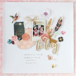 A cute Scrapbooking of Christmas feeling
