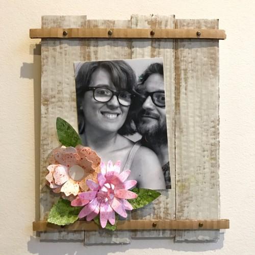 diy upcycled  photo frame
