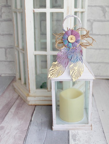 Delicate Feather Lantern
