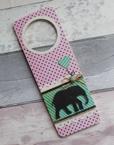 Baby Elephant Door Hanger