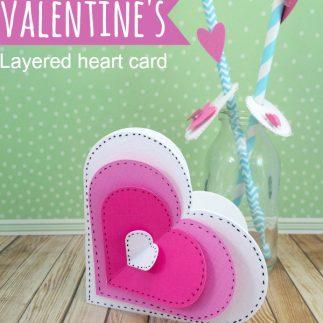 Layered heart card using a folding hack!