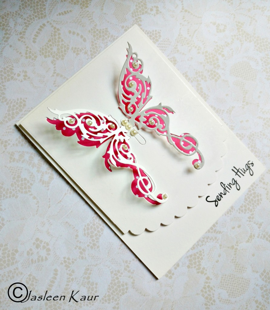 butterfly card for sizzix by jasleen kaur