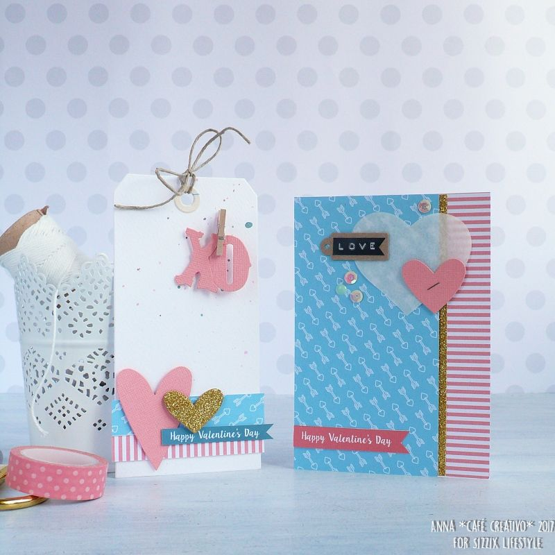 Coordinating Valentine Card and Gift Tag
