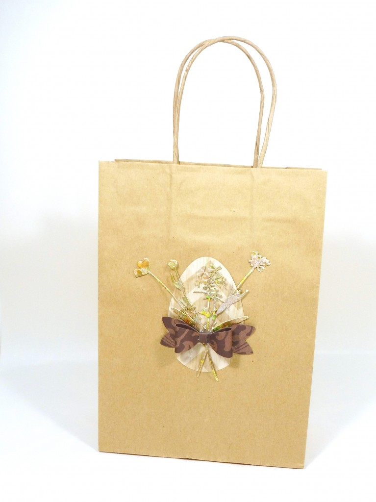 rustic easter favor bag