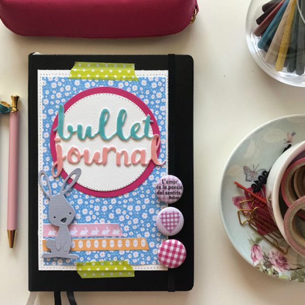 Spring Bullet Journal Cover With Free Easter Papers Download