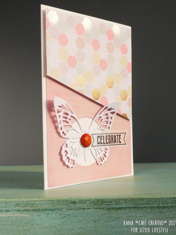 How to make Detailed Butterflies Birthday Card using Sizzix dies