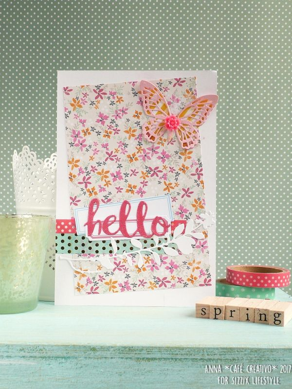 How to make Spring Cards using Sizzix Dies Detailed Butterflies Mini