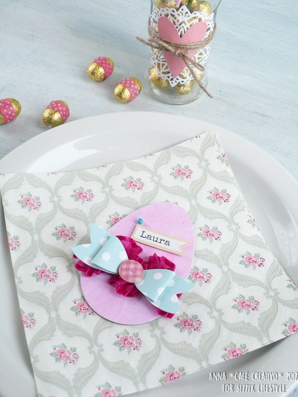 How to make Easter Egg place cards using Sizzix Bigz Die