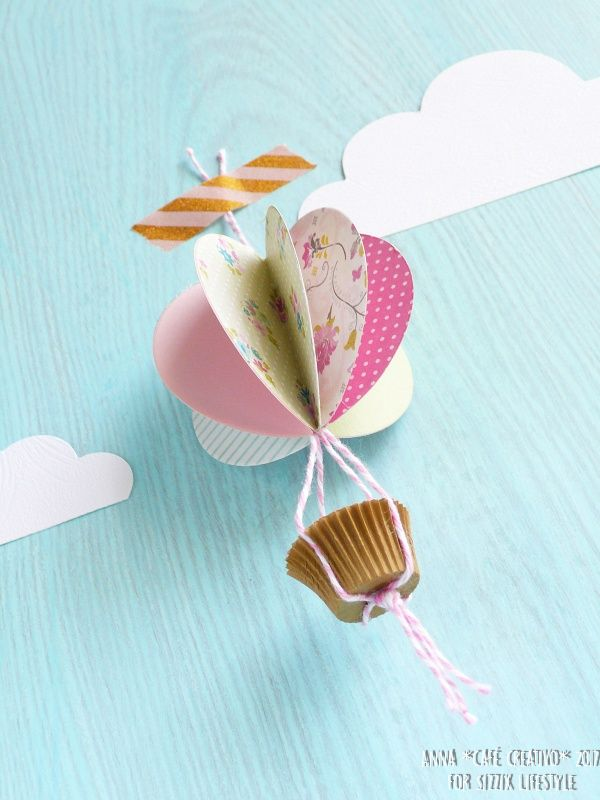How to make a Paper Hot Air Balloon - Video tutorial