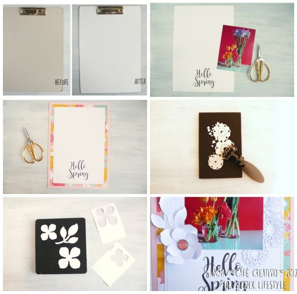 Spring Clipboard Scrapbooking Home Decor using Sizzix Dies