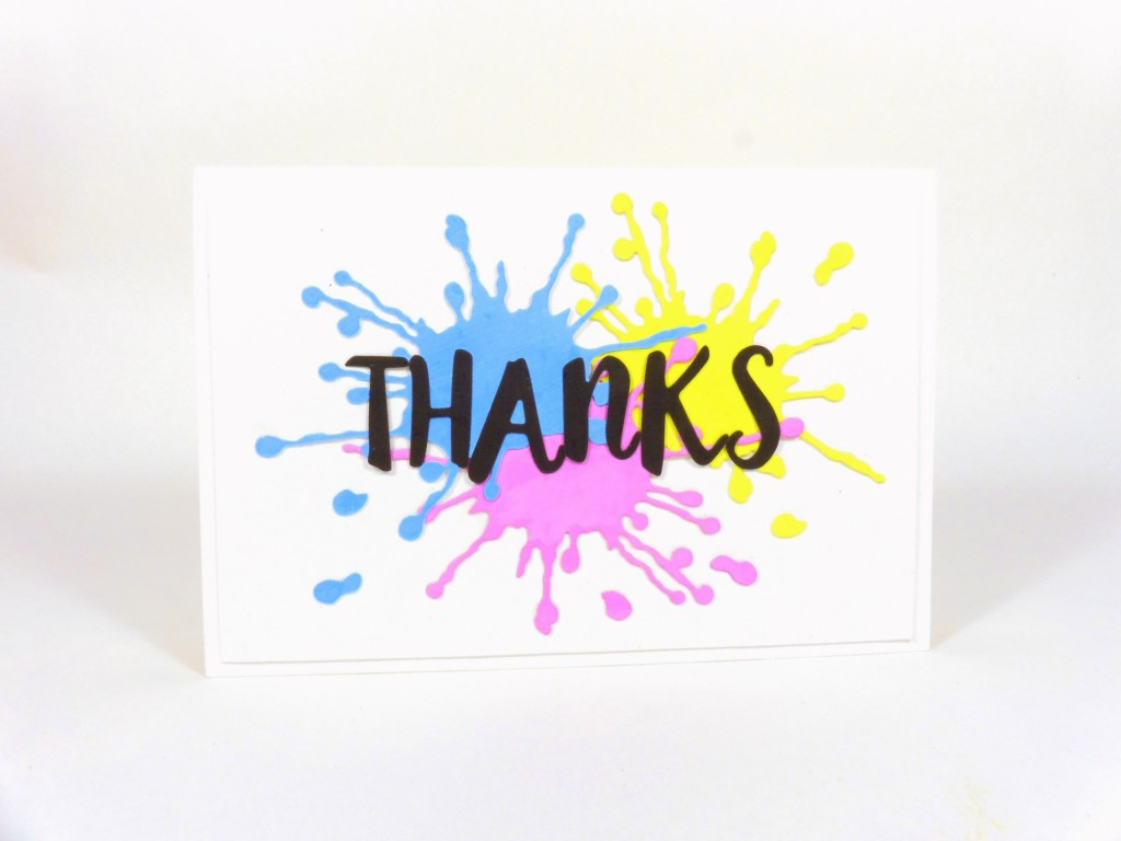 splatter thanks card