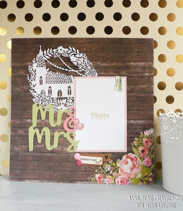 Wedding Scrapbooking project as Home Decor using Sizzix Dies