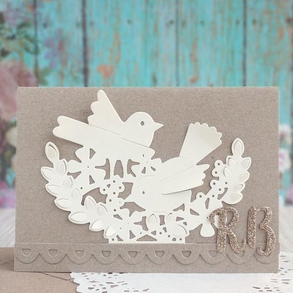 Wedding card Interlacing Birds