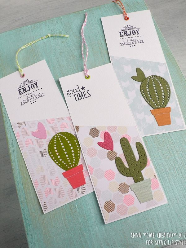 Cacti bookmarks using Sizzix die