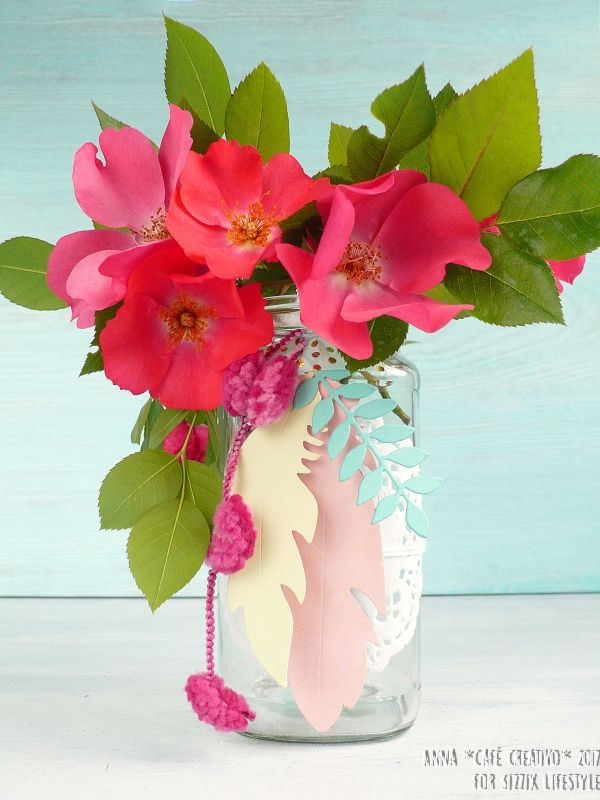 DIY Jar Flower Vase using Big Shot and Sizzix dies