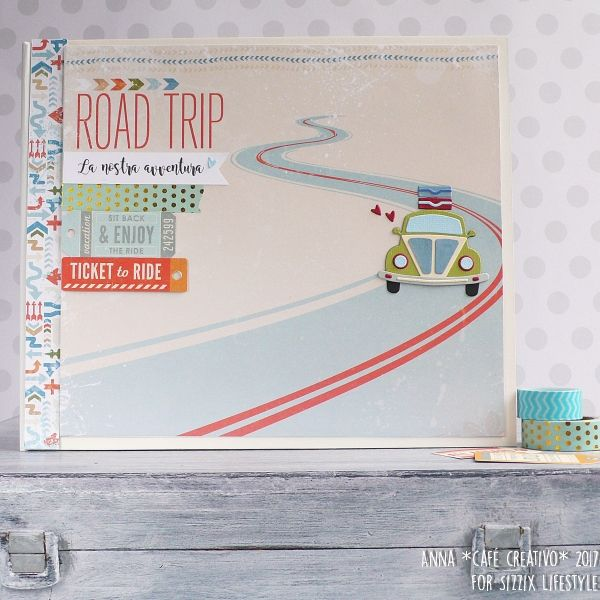 Mini Album Open Road using Sizzix die