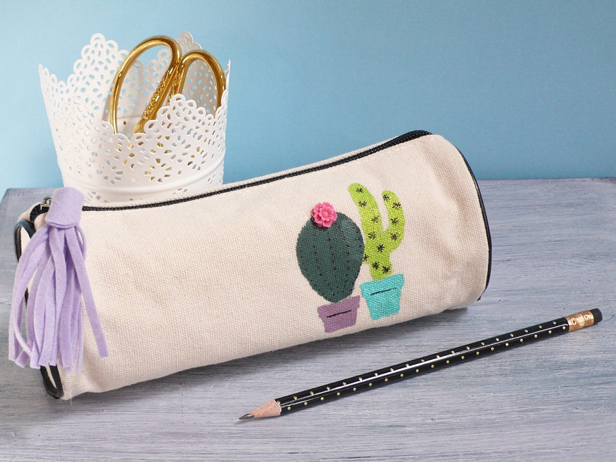 Fun Pencil Pouche with Cacti