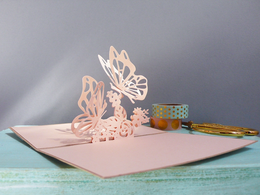 How To Make a Butterfly Pop Up card + Video