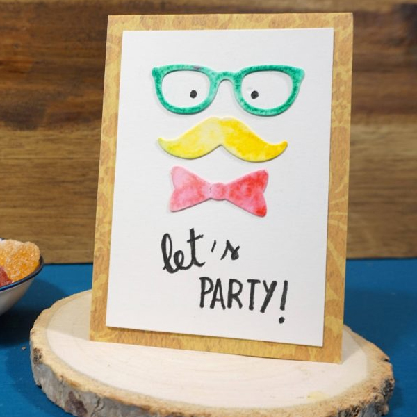 Hipster party invitation