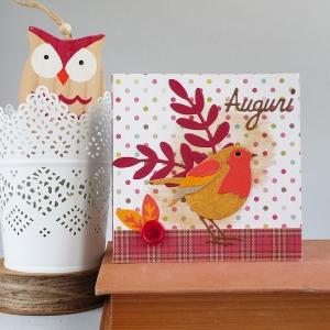 Autumn Card Little Robin