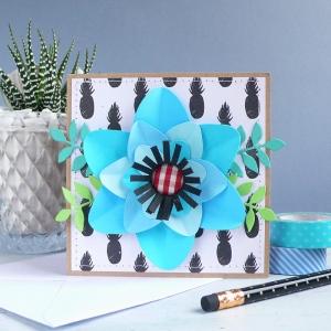 Card Sweet Lotus flower
