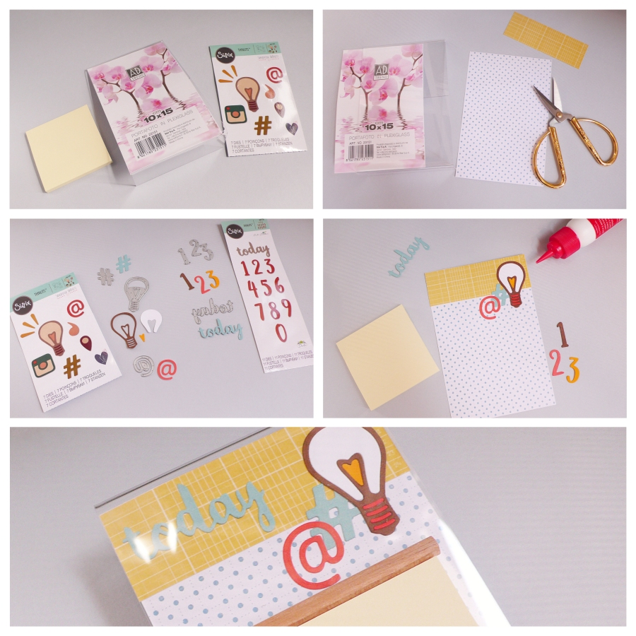 DIY How to make an acrylic post it note holder