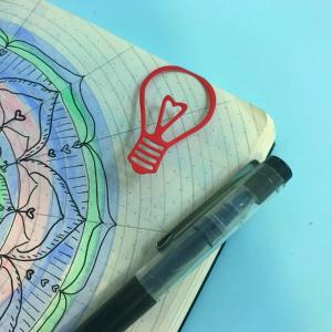 One minute make! Light bulb bookmark