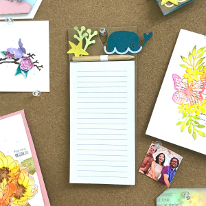 End of summer notepad for your cork board!