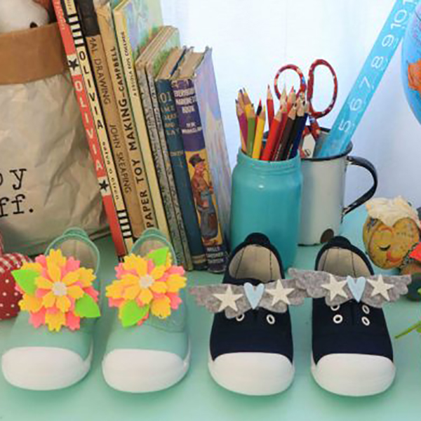 Funny shoes for little feet!